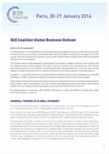 GLOBAL-BUSINESS-COALITION-POSITION PAPER-2014-GLOBAL-BUSINESS-OUTLOOK-2014
