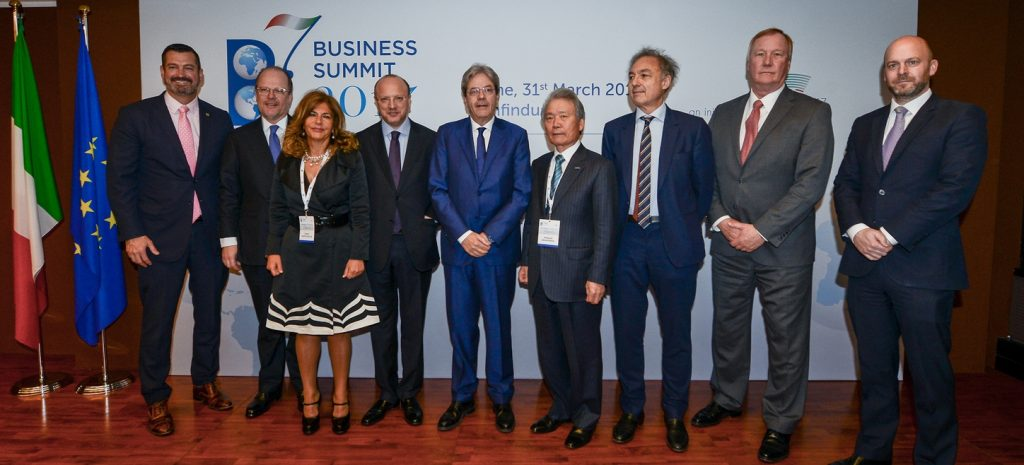 B7 Business leaders meeting, Rome - Joint declaration