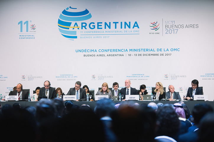 More than 40 ministers issue joint statement affirming support for the WTO