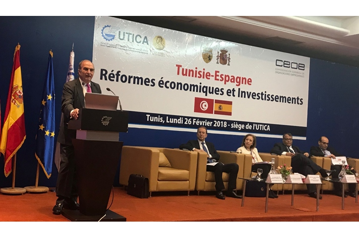 CEOE values reforms by Tunisia to improve the business climate in the country