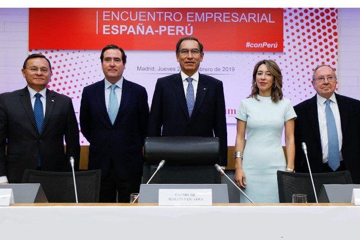 CEOE: President of Peru highlights reforms and competitiveness during State visit