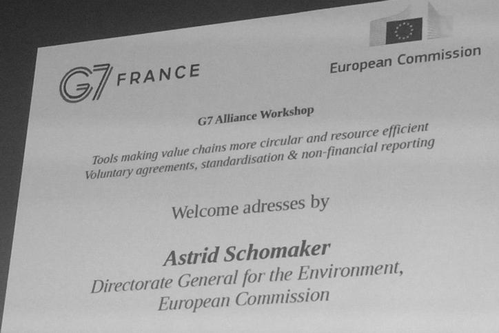 "G7 Workshop: ""Tools making value chains more circular & resource efficient"""