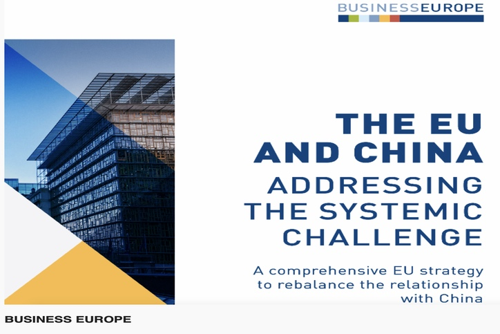 Business Europe to propose a comprehensive EU strategy to rebalance the relationship with China