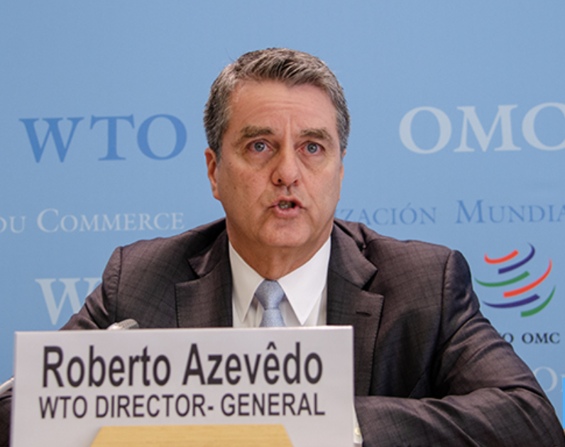 WTO DG announces he will step down on August, 31st 2020