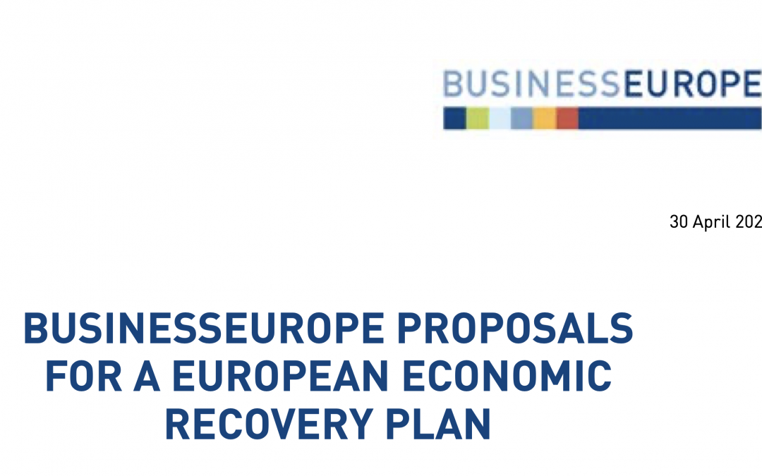 Business Europe proposals for a European Economic Recovery Plan