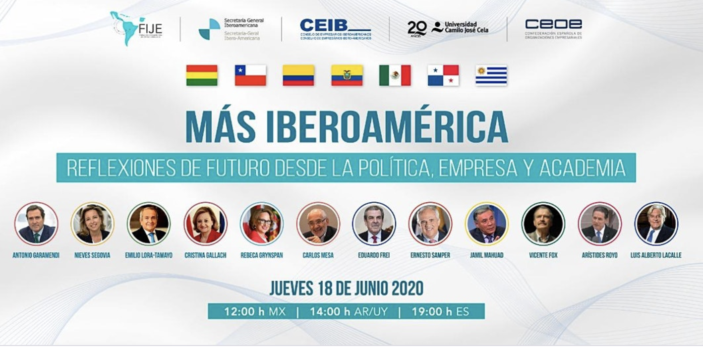 MORE IBEROAMERICA, REFLECTIONS FOR THE FUTURE FOR POLITICS, BUSINESS AND ACADEMY – Conversation with 7 ex-Latin American presidents –