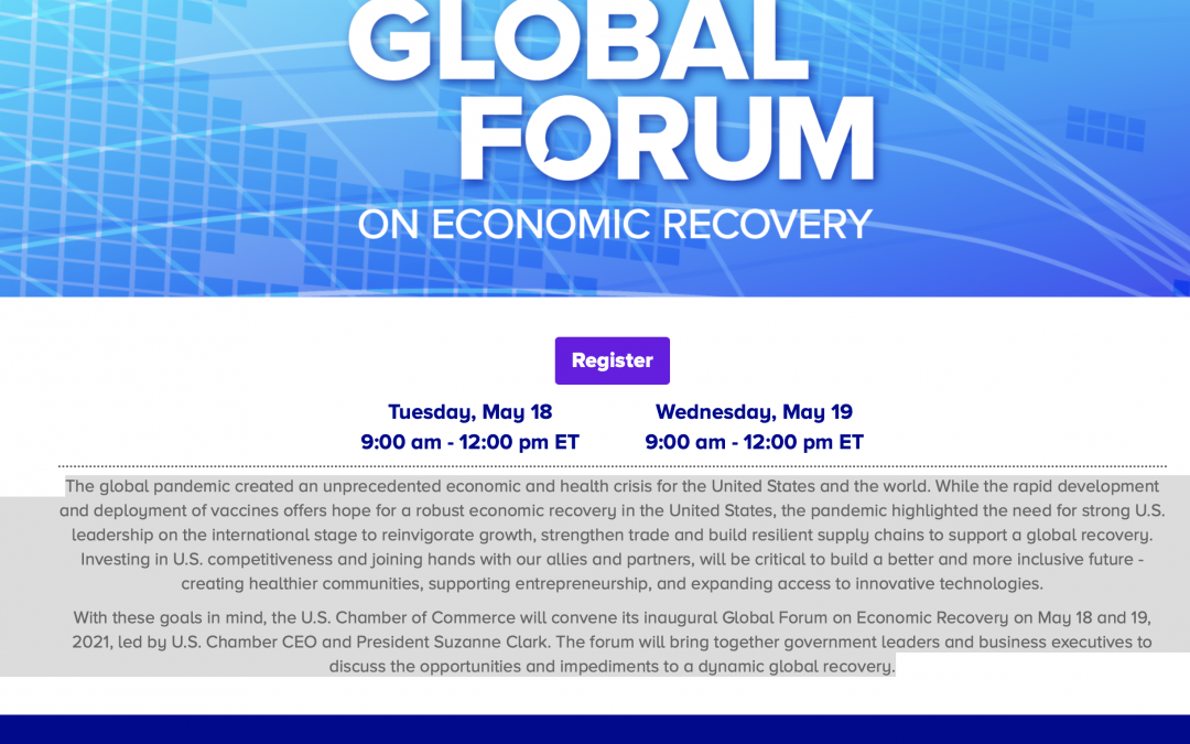 USCC ANNUAL GLOBAL FORUM ON ECONOMIC RECOVERY