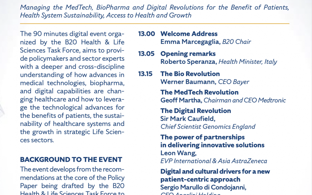 B207 G20- NAVIGATING THE CONVERGENCE TO IMPROVE HEALTHCARE SYSTEMS